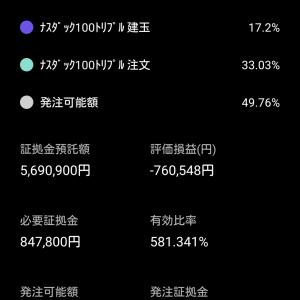 暴落でも買い向かう!TQQQ自動売買!! 9/22は¥66,366の利益 、9/23オープン状況(0円 22:40現在)