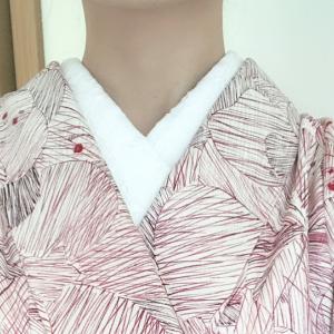 お着物コーデ ~手書き風花柄小紋編~