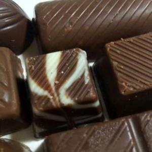 娘と二人でチョコレート
