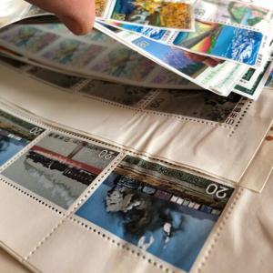 今年の不幸は今年の内に。一体化した切手を救出してみた