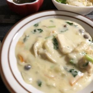 夫婦の温度差&小松菜と鶏もも肉のクリーム煮
