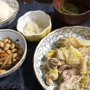 面会時間は15分&豚肉と白菜、キノコの炒め物