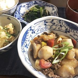 記念すべき第一号&里芋と牛肉の煮物