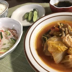 略奪(^^;)&ムネ肉と白菜のトマト煮