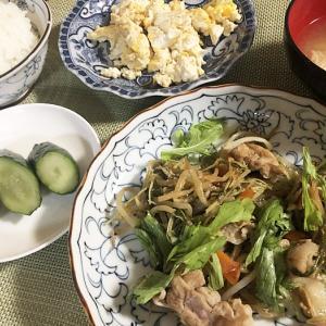 小さなパン小屋一休&水菜と豚肉の味噌炒め