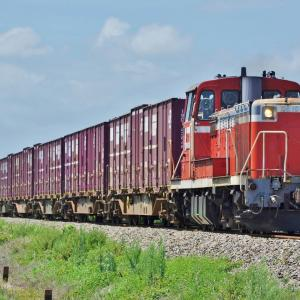 DE10牽引 石巻線の高速貨物列車
