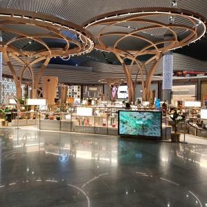 コロナ渦のイスタンブール空港 - ラウンジの様子