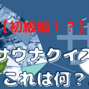 【初級編】サウナのクイズ「これは何?」