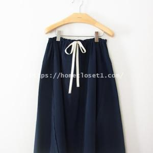 ドローストリングスカート【homspun_ホームスパンのカラークロス】