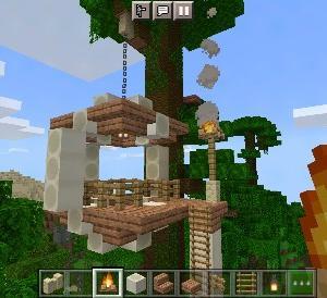 部族風?骨を使ったツリーハウスの作り方【マイクラ】
