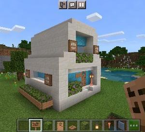 色合い自在の2階建て丸型ハウスの作り方【マイクラ】