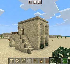 砂岩メインで1階に倉庫つきの家の作り方【マイクラ】