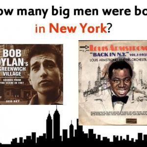 How many big men were born in New York?