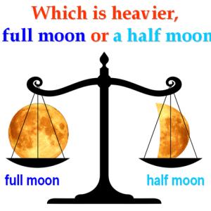 満月と半月の重さ