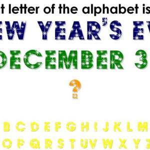 大晦日と似たアルファベットは?