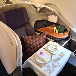 Restaurant A380|シンガポール航空の飛ばない飛行機でビジネスクラス機内食を食べてきた