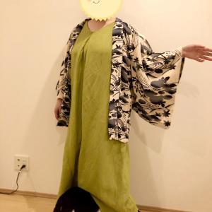 羽織+洋服のコーディネート~ワンピース~