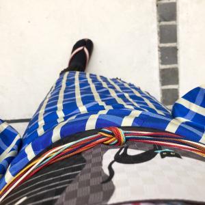 【着物コーデ帳】新しいアイテムを使って裾からプリーツを覗かせて☆