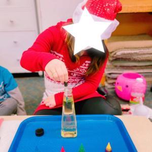 【冬の実験】水と油でクリスマスオーナメントを作ろう!