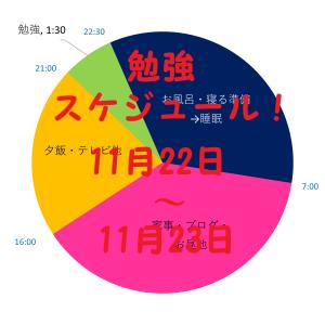 英検準1級の合格を目指す 勉強スケジュール 11月22日~23日