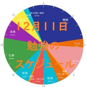 英検準1級勉強スケジュール 12月11日 金曜日