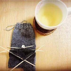 靴下編み。