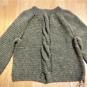 えりが編めました。