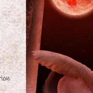 イラスト:赤い月夜の覚醒め