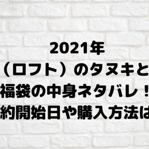 2021年LoFT(ロフト)の「タヌキとキツネ」福袋中身ネタバレ!予約開始日や購入方法は?再販は?