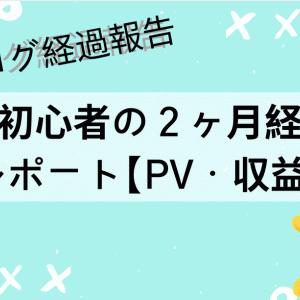 【ブログ経過報告】超初心者の2ヶ月経過レポート【PV・収益】
