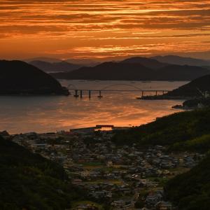 福山の夕日②2020.10.7