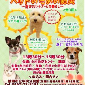 綾瀬市公民館講座「犬との暮らし方とペットのための防災」