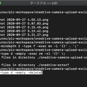 [Mac] サブフォルダ内のファイルを親フォルダに集める【フラット化のコマンド】