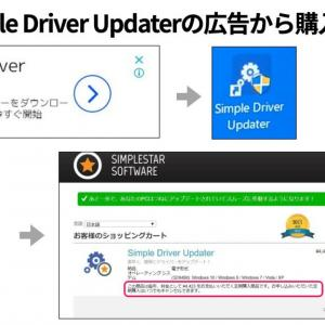 Simple Driver Updaterの広告から購入画面