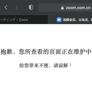 Zoomの偽サイト?【zoom.com.cn】