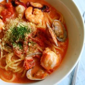 絶対作って♡本気の海鮮トマトクリームスープパスタ♪