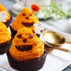 ハロウィンレシピ♡かぼちゃのモンブランタルト♪