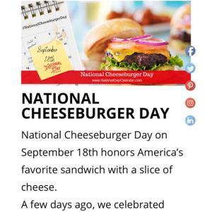 本日、National Cheeseburger Day!