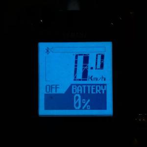 バッテリー残量が0%に!