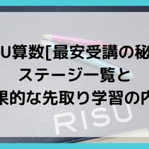 RISU算数[最安受講の秘訣]ステージ一覧と効果的な先取り学習の内容