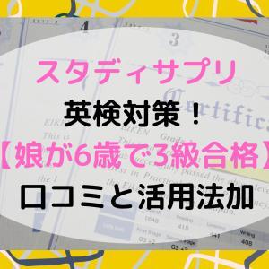 スタディサプリで英検対策!【娘が6歳で3級合格】口コミと活用法