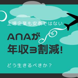 全日本空輸(ANA)が一般社員の年収3割超減を労働組合に提示