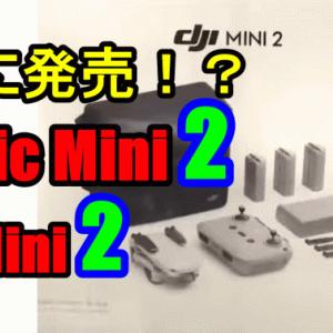 Mavic Mini(DJI Mini2)2すでに発売されてた?気になる価格、スペックは?