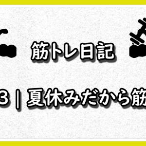 【26歳サラリーマンの筋トレ日記】#53 夏休みだから筋トレ