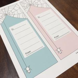 クモの巣カードを描こう!