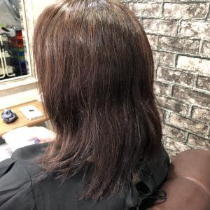 エイジング毛を縮毛矯正で艶髪