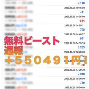 【ビースト&ビースト2 2020年10 月の成績】