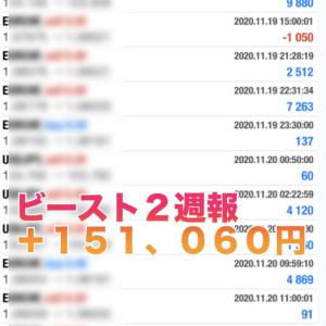 【無料版ビースト&ビースト2 2020年11 月 第3週目の成績】