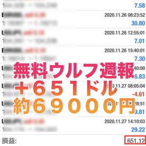 【無料版ウルフ&ウルフ2 2020年11 月 第4週目の成績】