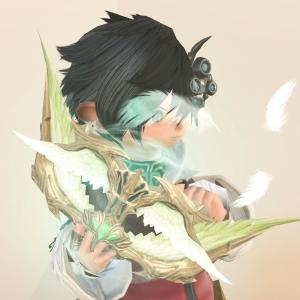 羽根が舞う美しい本・蛮神ガルーダの学者魔道書『ヴォーテックスエンブレイス』